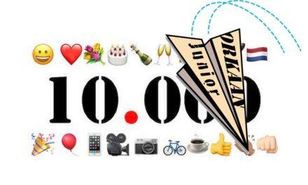 Orkaan Junior-mijlpaal: 100 artikelen