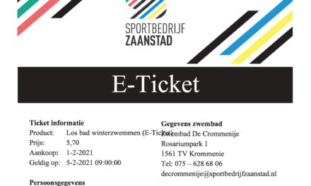 Ticket in the Pocket: we gaan zwemmen!
